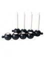 Rotor Kerzenhalter Globe, schwarz - für Kerzen u. Teelichter, L 37 cm