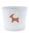 Rotor Keramik-Blumentopf, Motiv Ziegenbock, weiß
