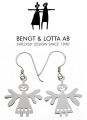 Bengt & Lotta earrings LUCKY, silver, 2 pcs