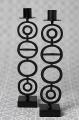 Bengt & Lotta großer Kerzenhalter CIRCLES, schwarz, h 30 w 6 cm