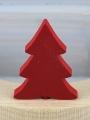 1 Holzstecker kleine Tanne, rot