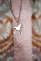 swedish necklace Dalahorse rosé, 42 cm