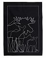 schwedisches Geschirrtuch Elch, schwarz, 50x70 cm