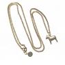 lange, schwedische Halskette Dalapferd gold, 85 cm