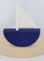 Sebastian design großes Boot, flach, dunkelblau