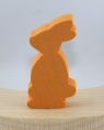 1 Holzstecker kleiner Osterhase, orange