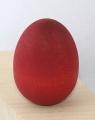 1 Holzstecker kleines Ei, rot matt