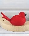 Steckfigur kleiner Vogel rot