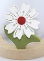 1 Nedholm Frühlingsblume, weiß/rot, Blätter hellgrün