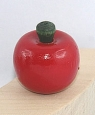 1 Mini-apple, red lacquered