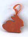 1 Rabbit on a tape orange, l 7 cm, h 5,5 cm