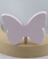 Schmetterling rosa pastell mit 6 mm Holzdübel, H 6 cm