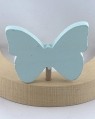 Schmetterling hellblau pastell mit 6 mm Holzdübel, H 6 cm