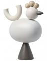 Aarikka großer Hahn KUKKU Tischdekoration, H 21 cm, beige/graubraun