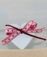 1 mittleres Herz sharbby weiß mit Schleife, H 5 cm