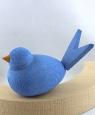 1 großer Vogel, hellblau