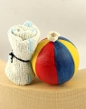 Beach waterball with towel, H 4 cm