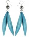 Jalava earrings water, h 9 cm