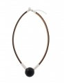 Aarikka Seita necklace black, l 50 cm