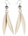 Jalava earrings varnished wood, h 9 cm