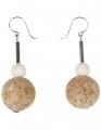 Aarikka Lupiini earrings white, h 5 cm