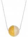 Aarikka Aho necklace yellow/nature, l 84 cm