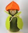 Blumenkind - Lampignonblume orange/grün, H 10 cm