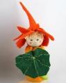 Blumenkind - Kapuzinerkresse dunkelgrün/orange, H 12 cm