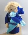 Schulanfang - Junge mit Schultüte, h 10 cm, blau