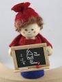 1. Schultag - Lehrerin mit Tafel, h 10 cm