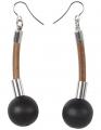 Aarikka Seita earrings black, h 5 cm