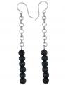Aarikka Ariel earrings black, h 7 cm