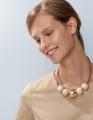 Aarikka METSÄ finnische Halskette weiß/gold,  l 50 cm