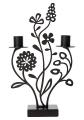 Bengt & Lotta großer Kerzenhalter FlOWER MEADOW, schwarz, 18,5x29 cm
