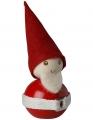 Mittlerer Aarikka Ukko Tonttu mit Gürtel rot, Weihnachtsmann, Höhe 11 cm
