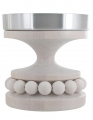 Aarikka Ruustinna Kerzenständer, weiß H 13 cm, D 12 cm