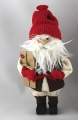 Santa with present and white beard, 14 cm