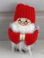 Santa mit langem Bart rot/grau