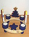 1 wood plug big star, blue