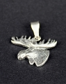 swedish jewelley pendant Warning sign moose silver, 2x2 cm without necklace (copy)