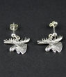 swedish earrings elk head silver, 1,5x1 cm