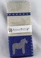 Swedish woven Kitchen towel Dalapferd blue, 50x70 cm