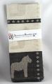 Swedish woven Kitchen towel Dalapferd black, 50x70 cm