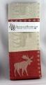 Swedish woven Kitchen towel Elk red, 50x70 cm