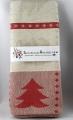 Swedish woven Kitchen towel Santa/fir red, 50x70 cm