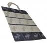 Skandinavisk Hemslöjd schwedische Textil-Tasche Elch schwarz, 35x46 cm