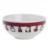 1 dänische Schüssel Nis Familie, Durchmesser 15 cm, H 7 cm, weiß/rot