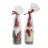 2 dänische Figurenkerzen Santas Herz, H 20 cm, Farbe: rot/grau, Weihnachtsmann u. Weihnachtsfrau