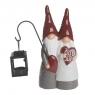 Keramikwichtelpaar Santas Herz mit Laterne für Außenbereich, H 20 cm, Farbe: rot/grau, Weihnachtsmann/Weihnachtsfrau (copy)