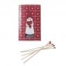 1 Packung dänische Streichhölzer, Santa Herz,15x9x2 cm (Inhalt 50 Stück)